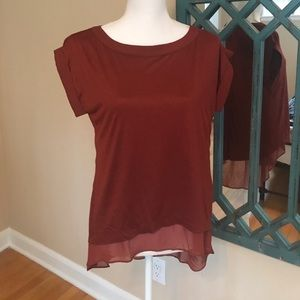 Burnt red Lined blouse